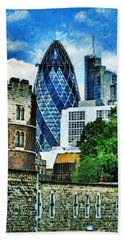 The London Gherkin  Hand Towel