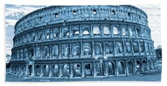 Hand Towel featuring the photograph The Majestic Coliseum by Luciano Mortula