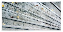 Hand Towel featuring the photograph The Marble Steps Of Life by Vicki Ferrari