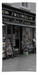 The Old Bookstore Hand Towel by Mary Machare