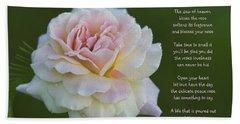 The Peace Rose Bath Towel