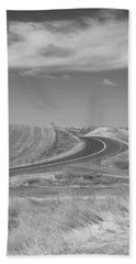 Bath Towel featuring the photograph The Quiet Road by Kathleen Grace