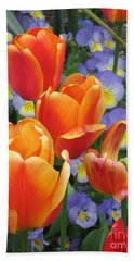 The Secret Life Of Tulips - 2 Bath Towel by Rory Sagner