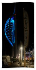 The Spinnaker At Night Portsmouth Bath Towel