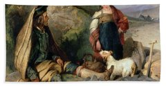 The Stone Breaker And His Daughter Bath Towel