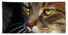 Hand Towel featuring the photograph The Watcher by Davandra Cribbie