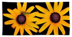 Hand Towel featuring the photograph The Yellow Rudbeckia by Davandra Cribbie