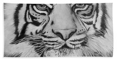 Tiger's Eyes Bath Towel