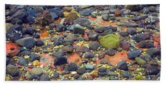 Hand Towel featuring the photograph Tinopoi Beach Rocks by Mark Dodd