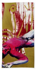 Hand Towel featuring the painting To Kill A Dead Boy by Rene Capone