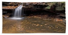 Hand Towel featuring the photograph Tolliver Falls by Jeannette Hunt