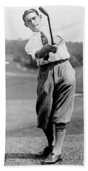 Hand Towel featuring the photograph Tom Armour Wins Us Golf Title - C 1927 by International  Images