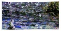 Torch River Water Lilies Ll Bath Towel