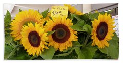 Bath Towel featuring the photograph Tournesol by Carla Parris