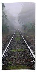 Tracks In Fog Bath Towel