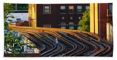 Train Tracks Hand Towel by Bruce Bley