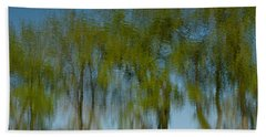Tree Line Reflections Bath Towel