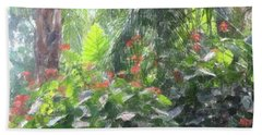 Hand Towel featuring the photograph Tropical Paradise by Donna  Smith