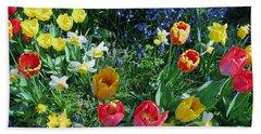 Tulips Dancing Bath Towel by Rory Sagner