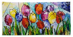 Tulips On Parade Hand Towel