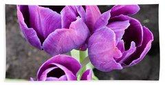 Tulips Queen Of The Night Hand Towel