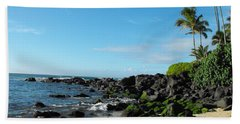 Turtle Beach Oahu Hawaii Hand Towel by Rebecca Margraf