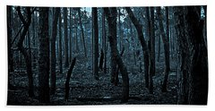 Hand Towel featuring the photograph Twilight In The Smouldering Forest by DigiArt Diaries by Vicky B Fuller