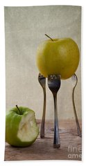 Two Apples Hand Towel by Nailia Schwarz