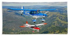 Two Champion Aircraft Citabrias Bath Towel