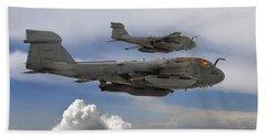 Two U.s. Navy Ea-6b Prowlers Flying Hand Towel