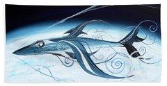 U2 Spyfish - Spy Plane As Abstract Fish - Hand Towel