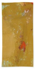 Untitled Abstract - Ochre Cinnabar Bath Towel
