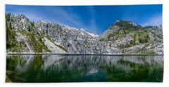 Upper Canyon Creek Lake Panorama Hand Towel
