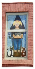 Hand Towel featuring the photograph Urban Window 2 by Lenore Senior