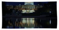 Us Capitol - Pre-dawn Getting Ready Bath Towel