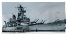 Uss New Jersey Hand Towel