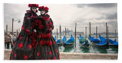 Bath Towel featuring the photograph Venice Carnival Mask by Luciano Mortula