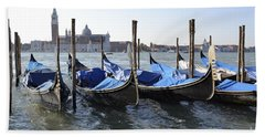 Bath Towel featuring the photograph Venice Gondolas by Rebecca Margraf