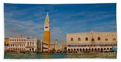 Bath Towel featuring the photograph Venice's Front Door by Eric Tressler