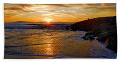 Ventura Beach Sunset Hand Towel by Lynn Bauer