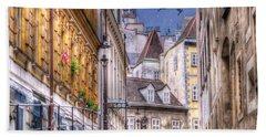 Vienna Cobblestone Alleys And Forgotten Streets Hand Towel