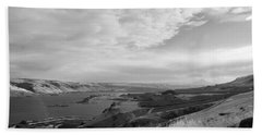Bath Towel featuring the photograph View From The Hill Columbia River by Kathleen Grace