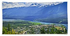 View Of Revelstoke In British Columbia Bath Towel