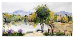 View Outside Reno Hand Towel by Vicki  Housel