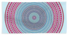 Vintage Color Circle Bath Towel
