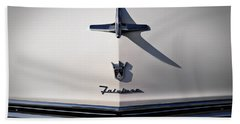 Vintage Ford Fairlane Hood Ornament Bath Towel