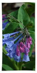 Bath Towel featuring the photograph Virginia Bluebells by Daniel Reed