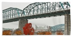 Walnut Street Bridge Bath Towel