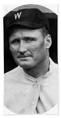 Hand Towel featuring the photograph Walter Johnson - Washington Senators Baseball Player by International  Images