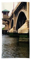 Washington Bridge Hand Towel by John Scates